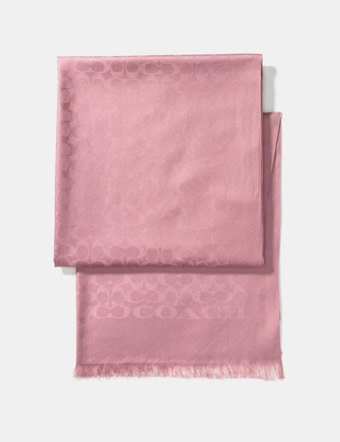 Coach Charakteristische Stola Gedecktes Rosa Damen Accessoires Schals & Handschuhe