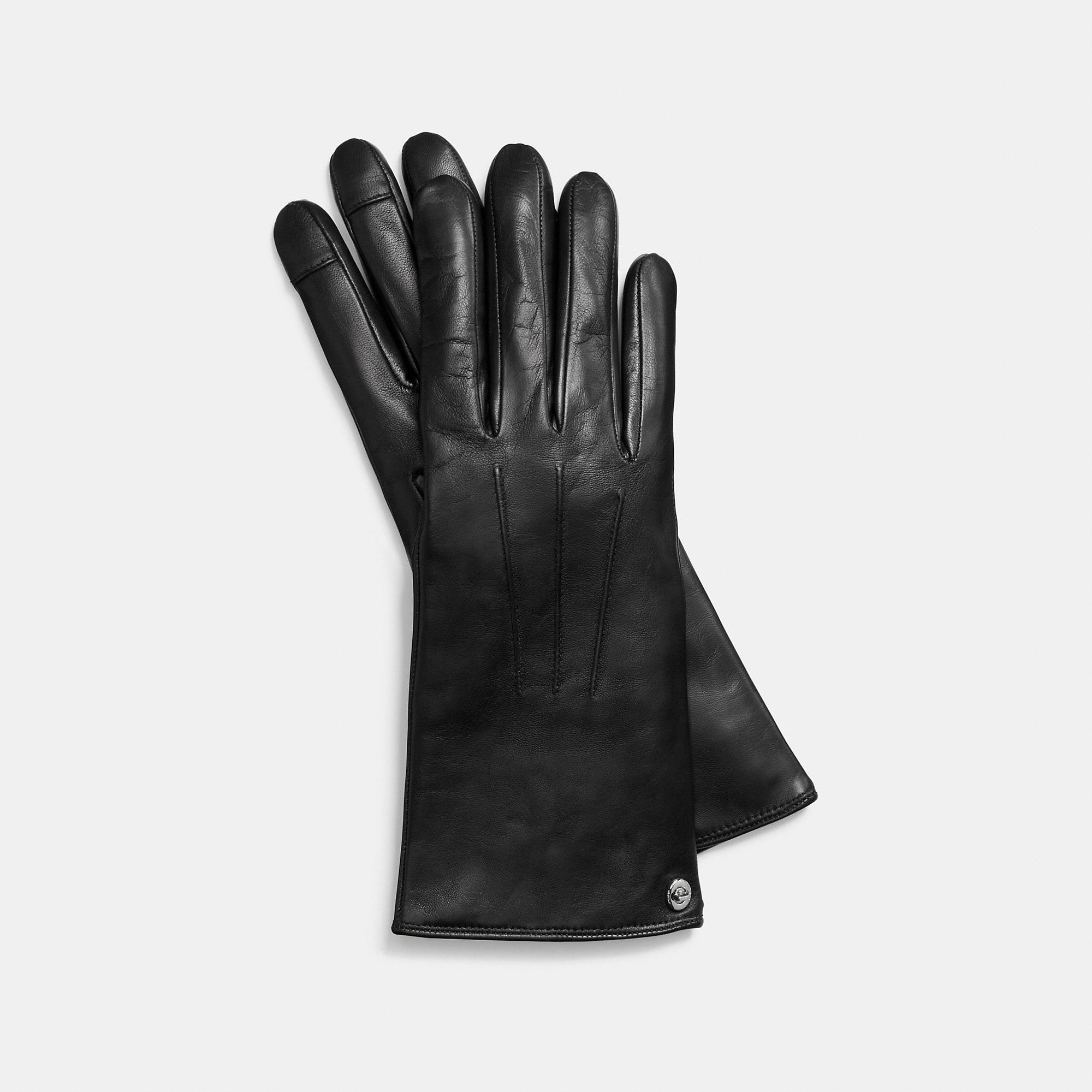 Coach New Leather Touchscreen Glove