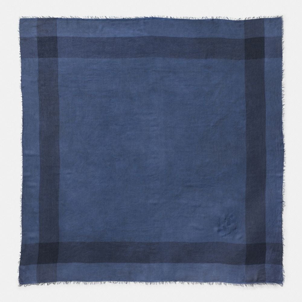 DENIM WINDOWPANE CHALLIS SCARF