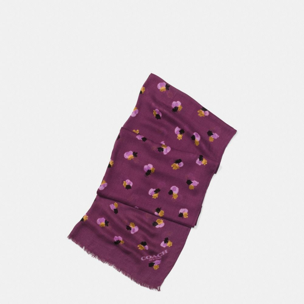 FIELD FLORAL OBLONG SCARF
