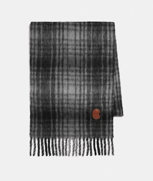 HUNTING PLAID PRINT OVERSIZED MUFFLER