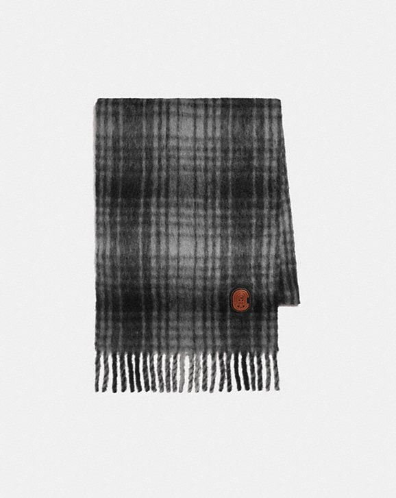 Coach HUNTING PLAID PRINT OVERSIZED MUFFLER