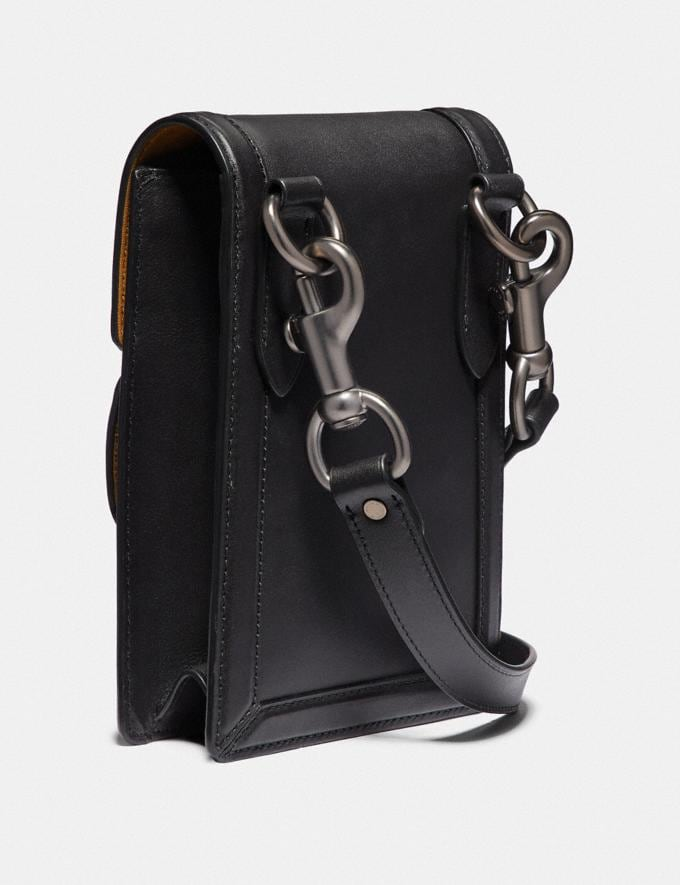 Coach Riley Crossbody With Wave Patchwork and Snakeskin Detail Black/Black Copper Men Bags Messenger & Crossbody Alternate View 1