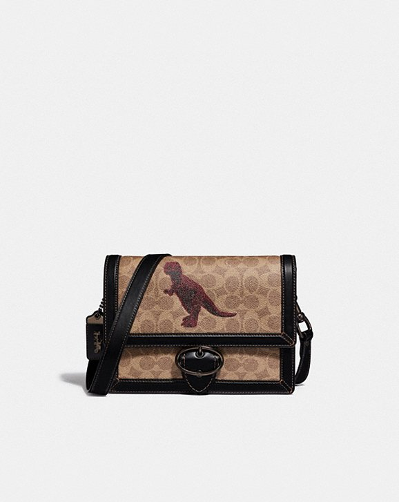 Coach RILEY CROSSBODY 24 IN SIGNATURE CANVAS WITH REXY BY SUI JIANGUO