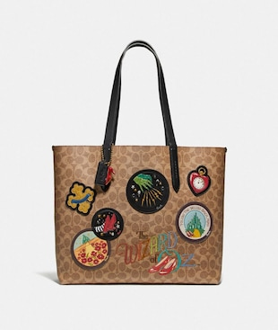 WIZARD OF OZ HIGHLINE TOTE IN SIGNATURE CANVAS WITH PATCHES