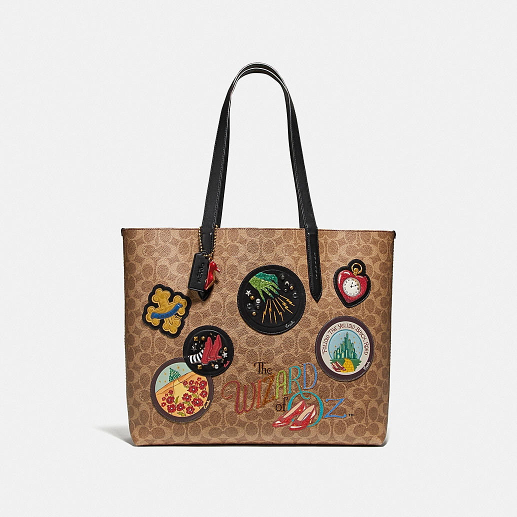 Wizard Of Oz Highline Tote In Signature Canvas With Patches by Coach