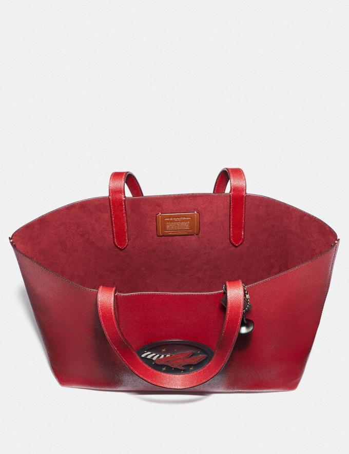 Coach Wizard of Oz Highline Tote With Motif Silver/Red Apple Women Handbags Diaper Bags Alternate View 3