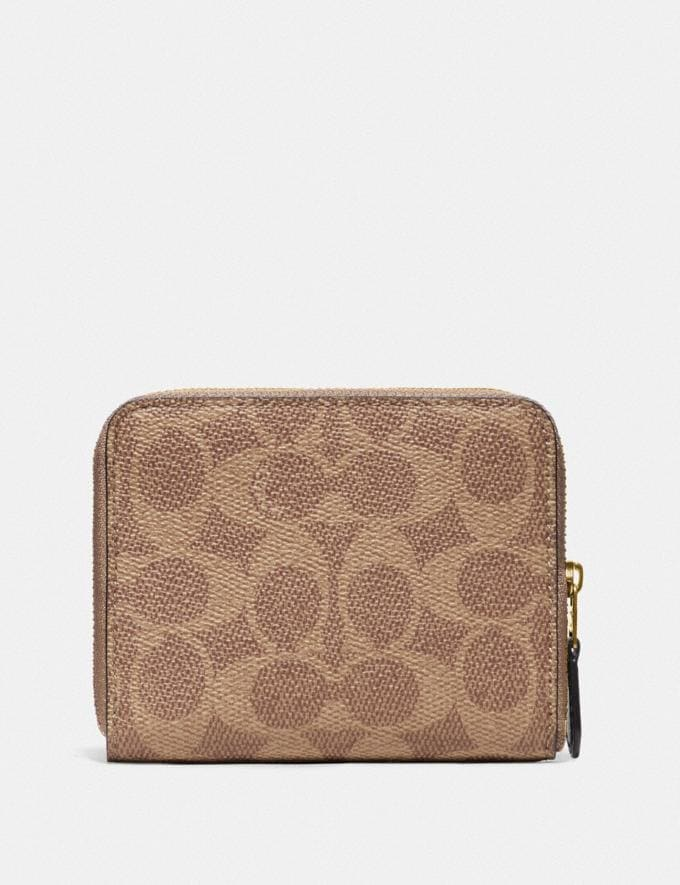 Coach Wizard of Oz Boxed Small Zip Around Wallet in Signature Canvas With Patches Brass/Tan Black New Featured Coach X The Wizard of Oz Alternate View 1