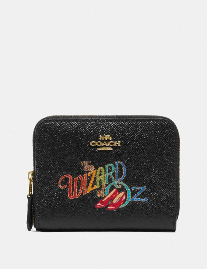 Coach Wizard of Oz Boxed Small Zip Around Wallet With Motif Gold/Black New Featured Coach X The Wizard of Oz