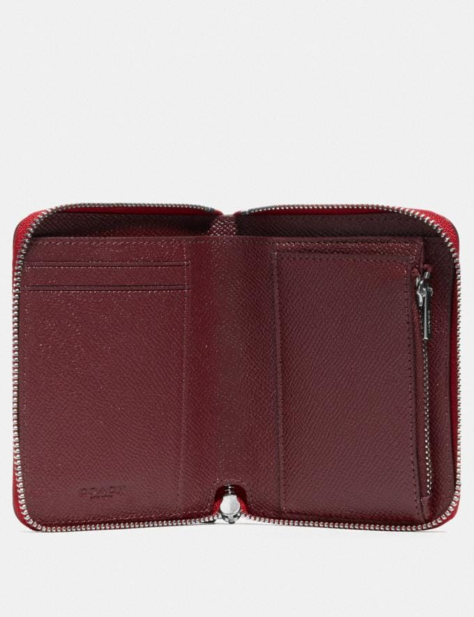 Coach Wizard of Oz Boxed Small Zip Around Wallet With Motif Silver/Red Apple Women Wallets & Wristlets Small Wallets Alternate View 2
