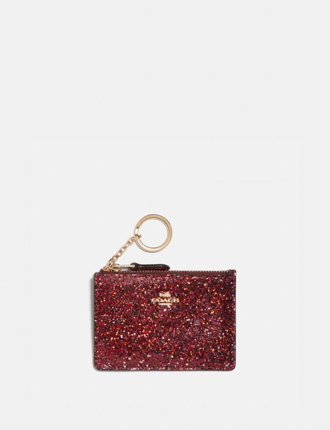 Coach Boxed Mini Skinny Id Case Gold/Red New Featured Coach X The Wizard of Oz