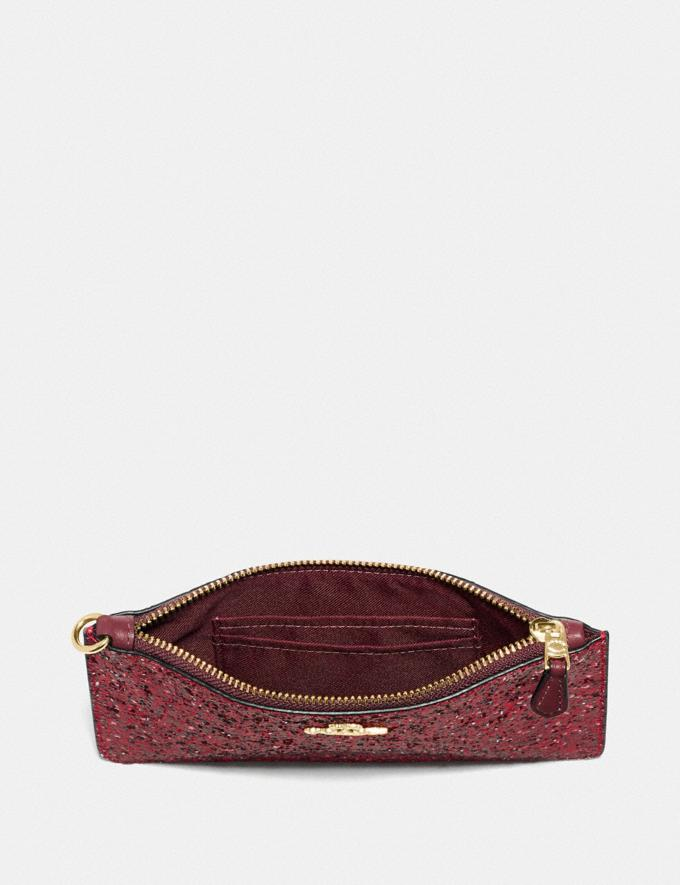 Coach Boxed Small Wristlet Gold/Red Women Accessories Tech & Work Alternate View 2