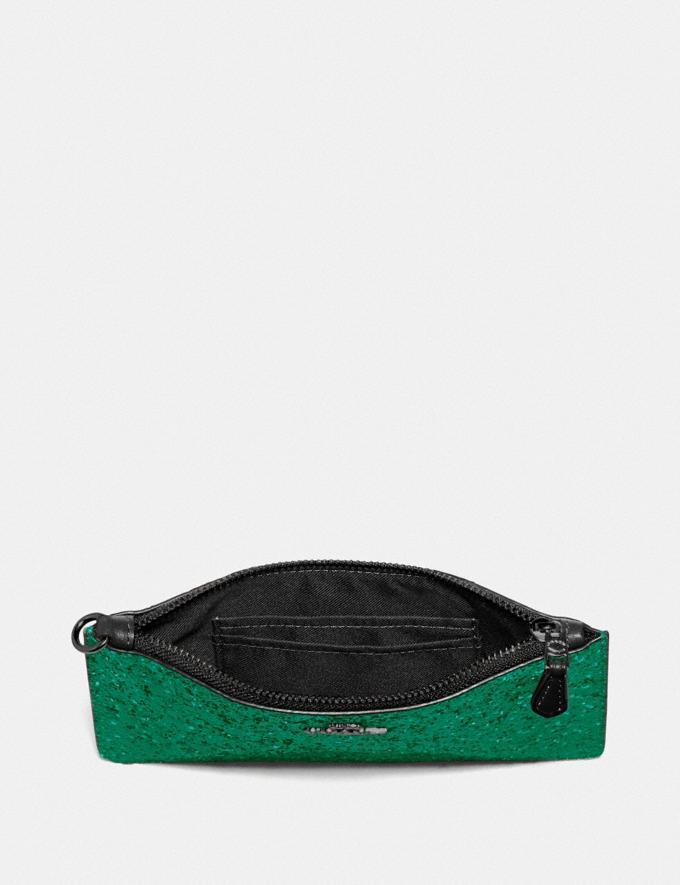 Coach Boxed Small Wristlet Gunmetal/Emerald Women Wallets & Wristlets Wristlets Alternate View 2