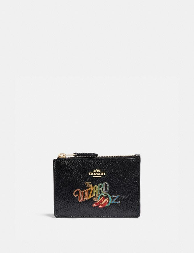 Coach Wizard of Oz Boxed Mini Skinny Id Case With Motif Gold/Black New Featured Coach X The Wizard of Oz