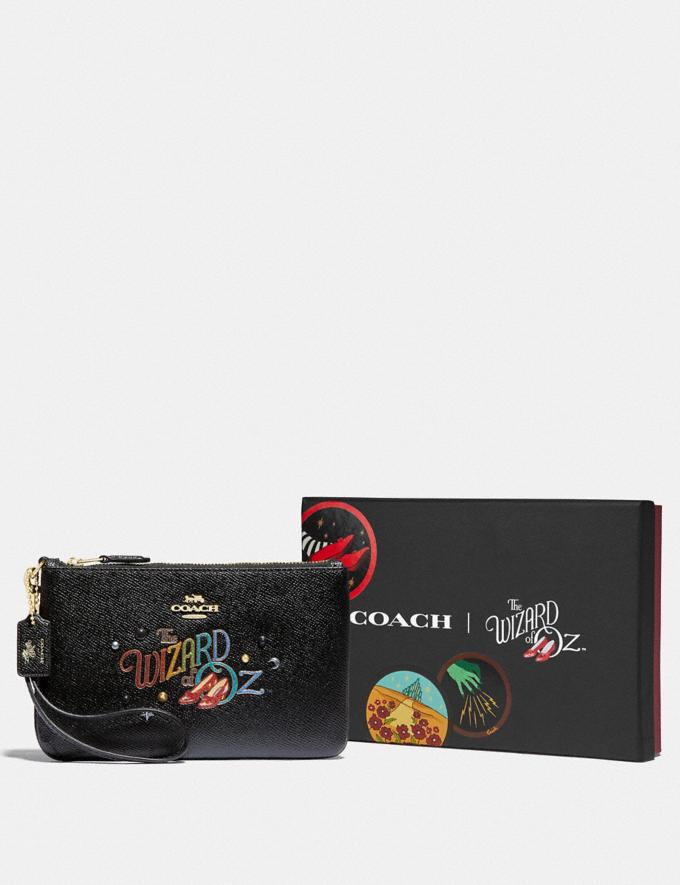 Coach Wizard of Oz Boxed Small Wristlet With Motif Gold/Black New Featured Coach X The Wizard of Oz Alternate View 2