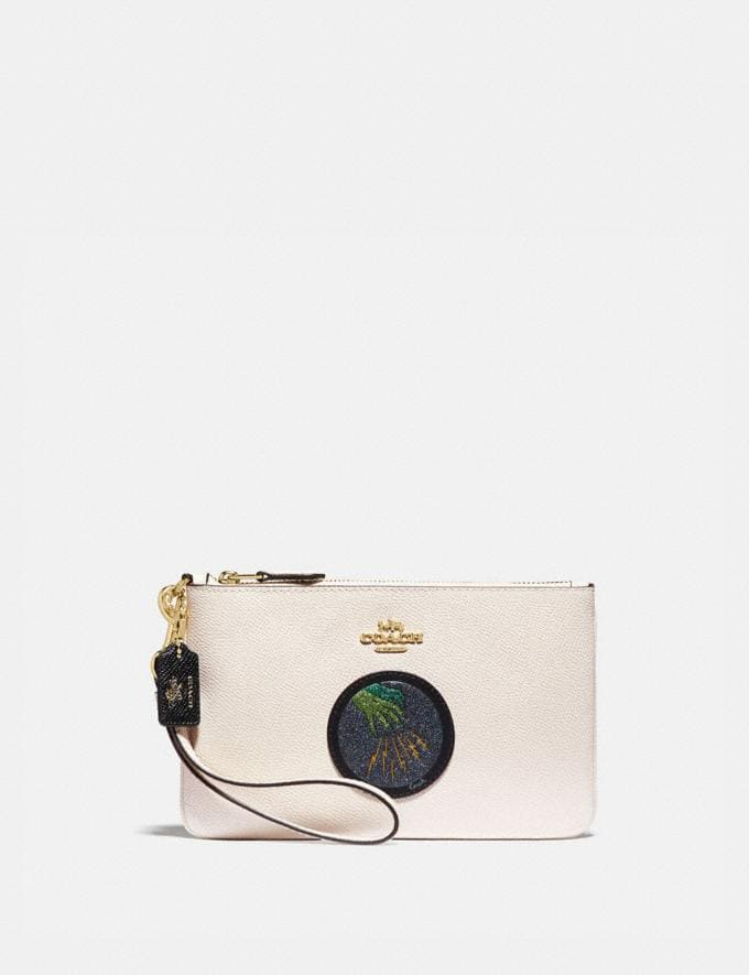 Coach Wizard of Oz Boxed Small Wristlet With Motif Gold/Chalk Women Wallets & Wristlets Wristlets
