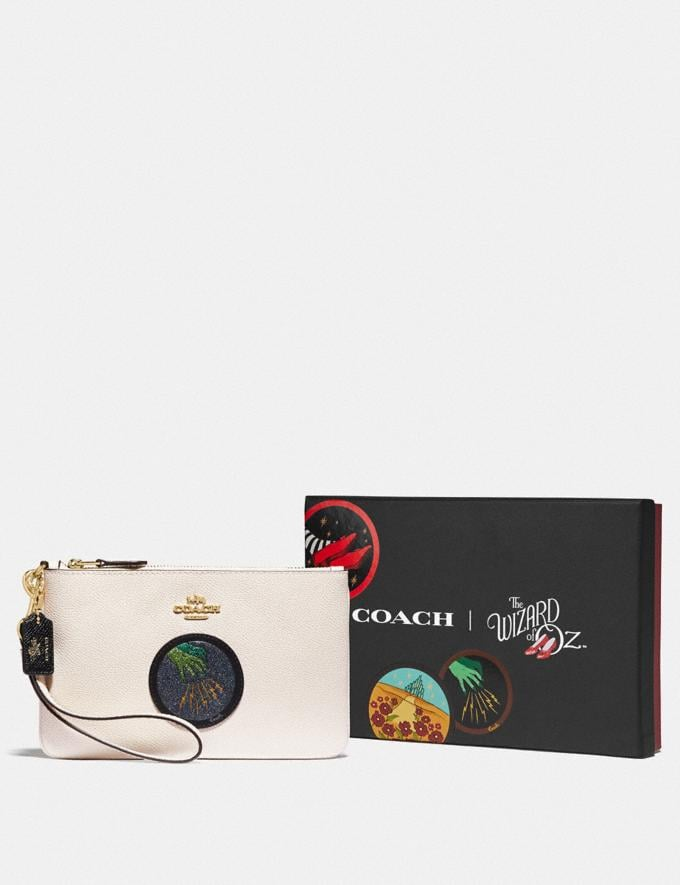 Coach Wizard of Oz Boxed Small Wristlet With Motif Gold/Chalk Women Wallets & Wristlets Wristlets Alternate View 2