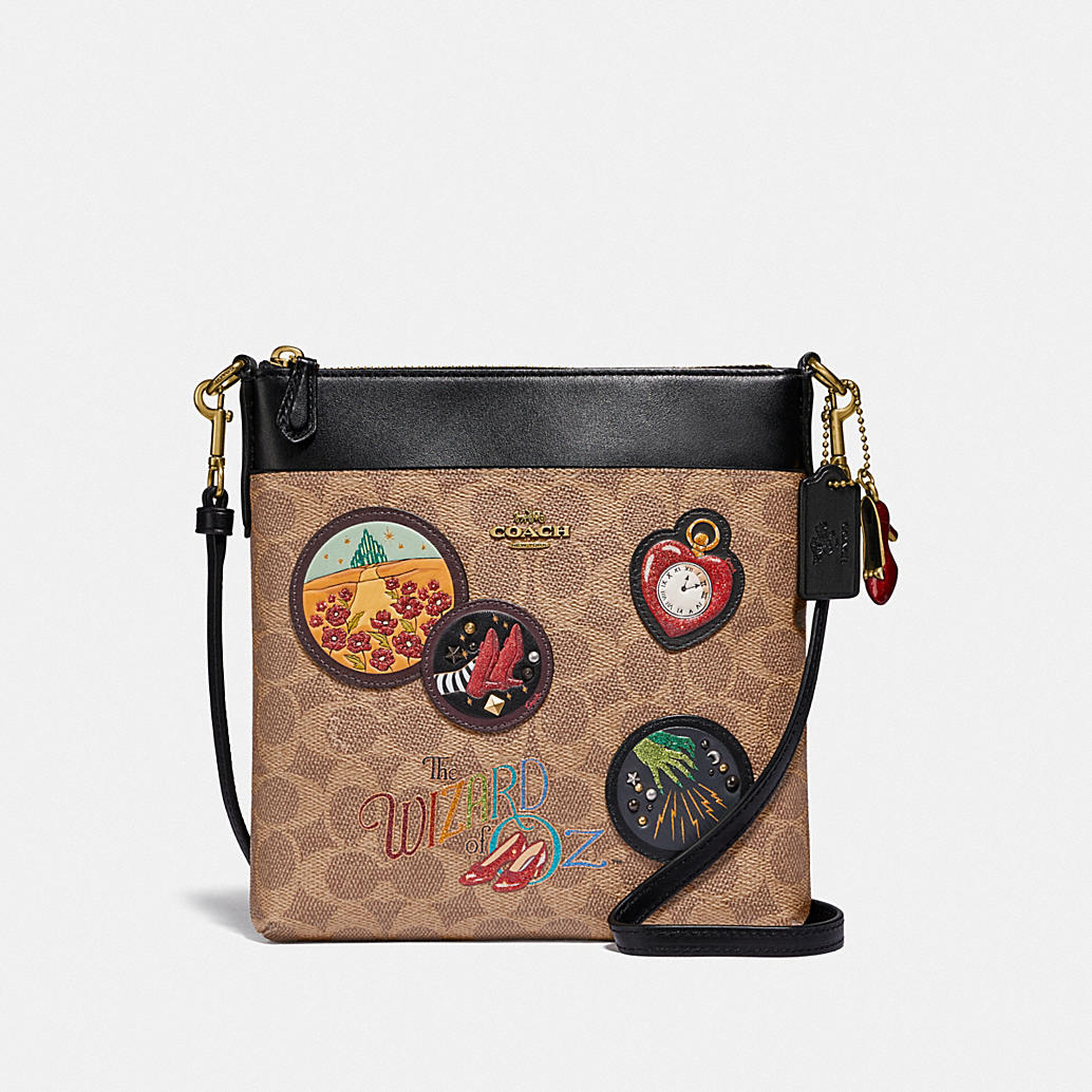 Wizard Of Oz Kitt Messenger Crossbody In Signature Canvas With Patches by Coach