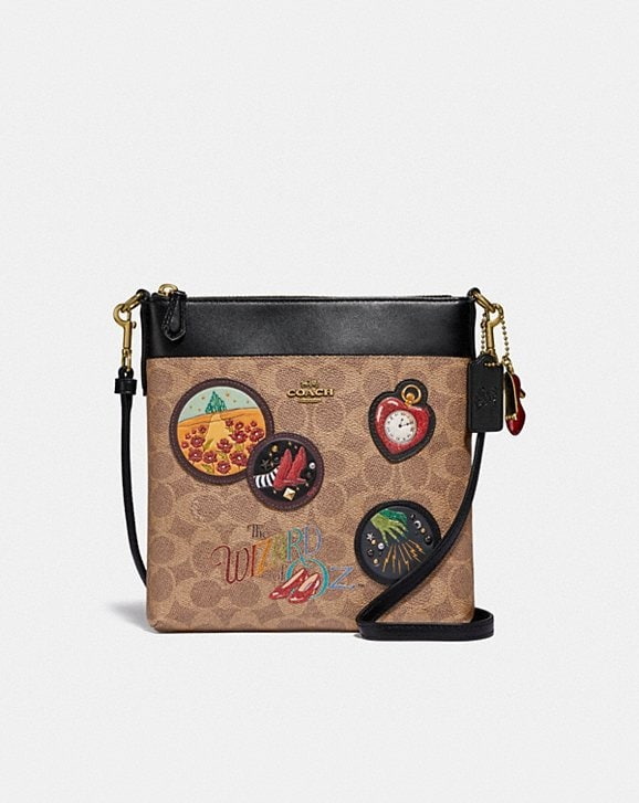 Coach WIZARD OF OZ KITT MESSENGER CROSSBODY IN SIGNATURE CANVAS WITH PATCHES