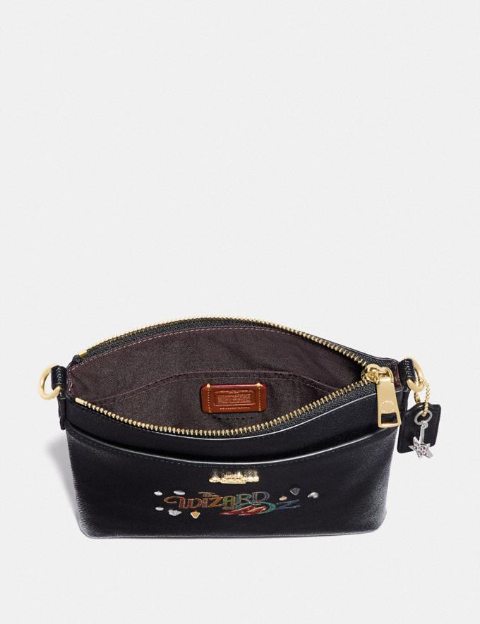 Coach Wizard of Oz Kitt Messenger Crossbody With Motif Gold/Black New Featured Coach X The Wizard of Oz Alternate View 2