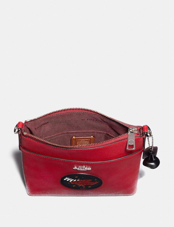 Coach Wizard of Oz Kitt Messenger Crossbody With Motif Silver/Red Apple New Featured Coach X The Wizard of Oz Alternate View 2
