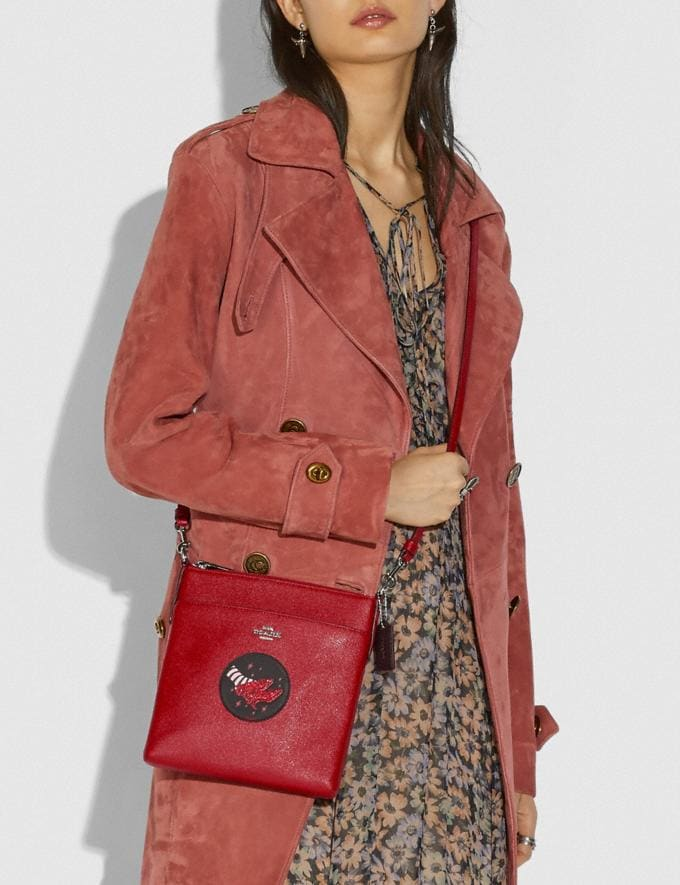 Coach Wizard of Oz Kitt Messenger Crossbody With Motif Silver/Red Apple New Featured Coach X The Wizard of Oz Alternate View 3