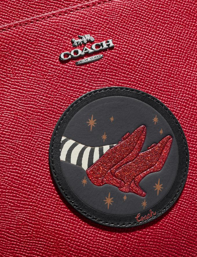Coach Wizard of Oz Kitt Messenger Crossbody With Motif Silver/Red Apple New Featured Coach X The Wizard of Oz Alternate View 4