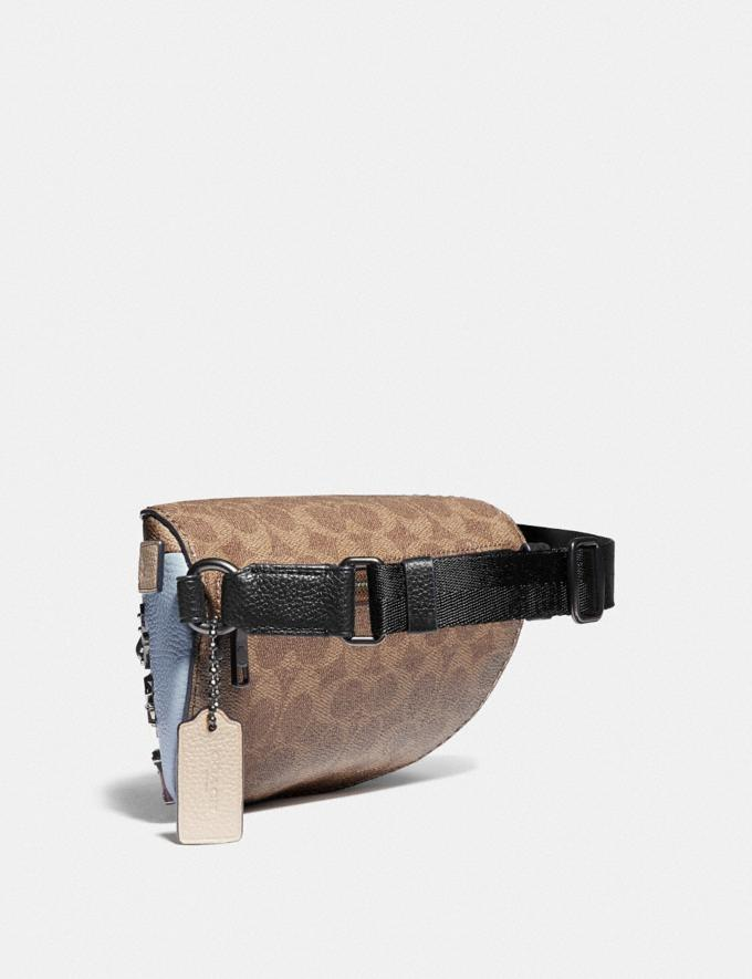 Coach Belt Bag With Signature Canvas Detail and Souvenir Pins Pewter/Tan Mist New Women's New Arrivals Bags Alternate View 1