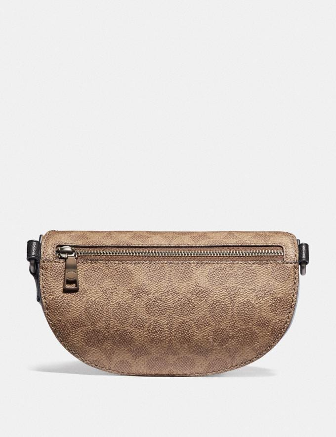 Coach Belt Bag With Signature Canvas Detail and Souvenir Pins Pewter/Tan Mist New Women's New Arrivals Bags Alternate View 2