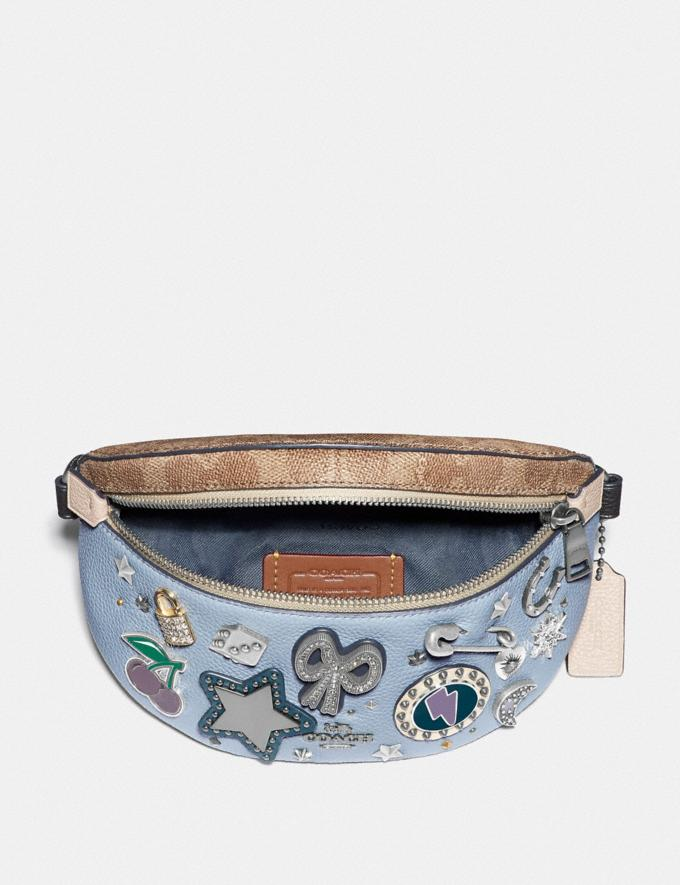 Coach Belt Bag With Signature Canvas Detail and Souvenir Pins Pewter/Tan Mist New Women's New Arrivals Bags Alternate View 3