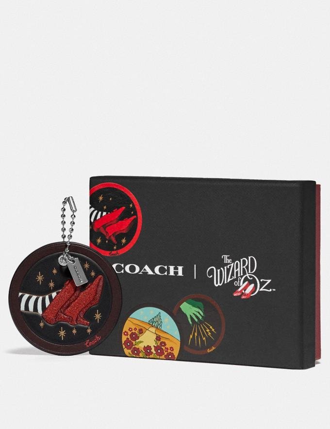 Coach Wizard of Oz Boxed Ruby Slippers Hangtag Silver/Black Women Accessories Bag Accessories & Keyholders Alternate View 1