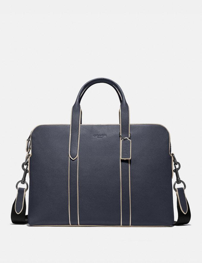 Coach Metropolitan Soft Brief Qb/Midnight Navy Men Bags Briefcases