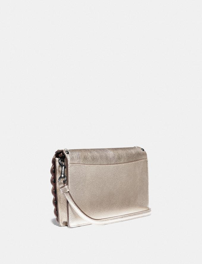 Coach Hayden Foldover Crossbody Clutch With Scallop Rivets Gm/Platinum Women Bags Crossbody Bags Alternate View 1