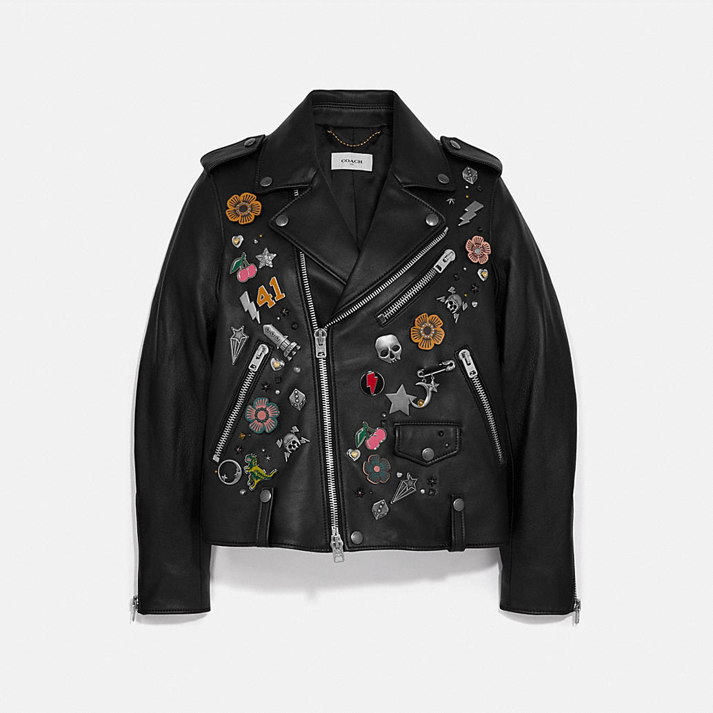 Embellished Moto Jacket by Coach