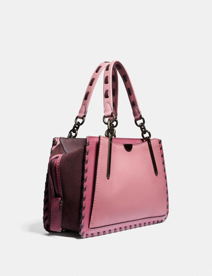 Coach Dreamer in Colorblock With Whipstitch True Pink Multi/Pewter Women Handbags Satchels & Top Handles Alternate View 1