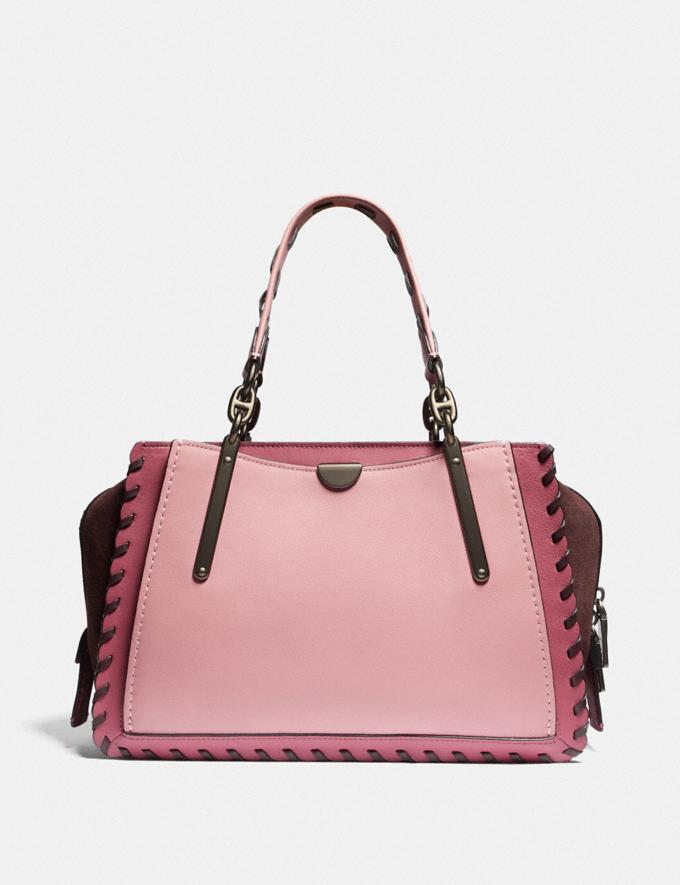 Coach Dreamer in Colorblock With Whipstitch True Pink Multi/Pewter Women Handbags Satchels & Top Handles Alternate View 2