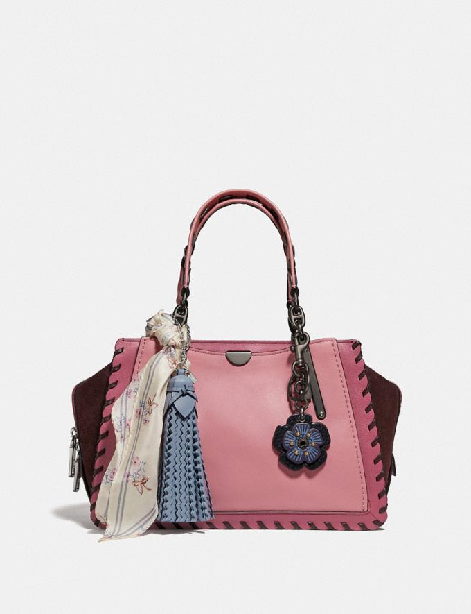 Coach Dreamer in Colorblock With Whipstitch True Pink Multi/Pewter Women Bags Satchels Alternate View 4
