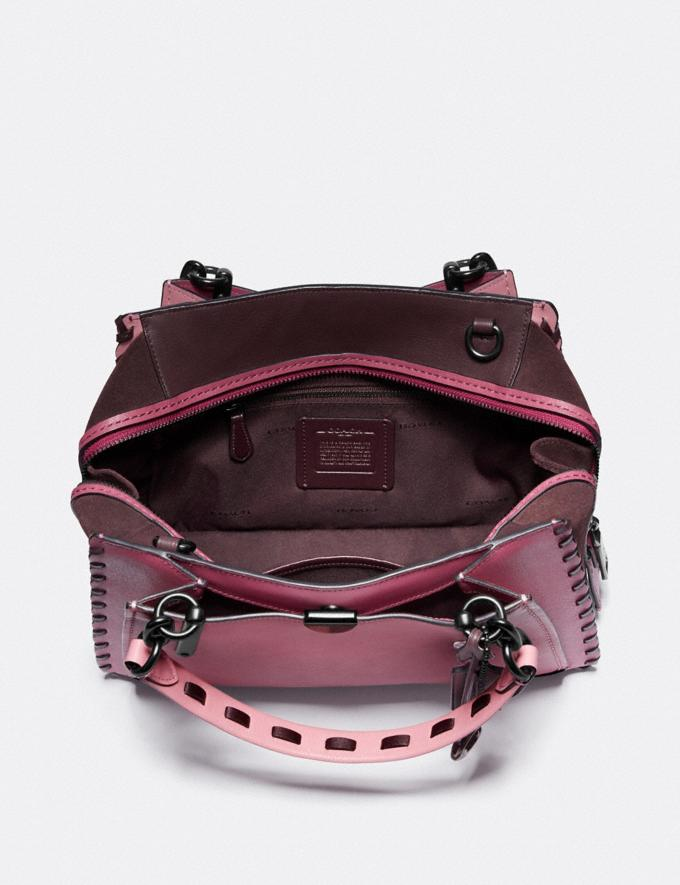 Coach Dreamer in Colorblock With Whipstitch True Pink Multi/Pewter Women Collection Dreamer Alternate View 3