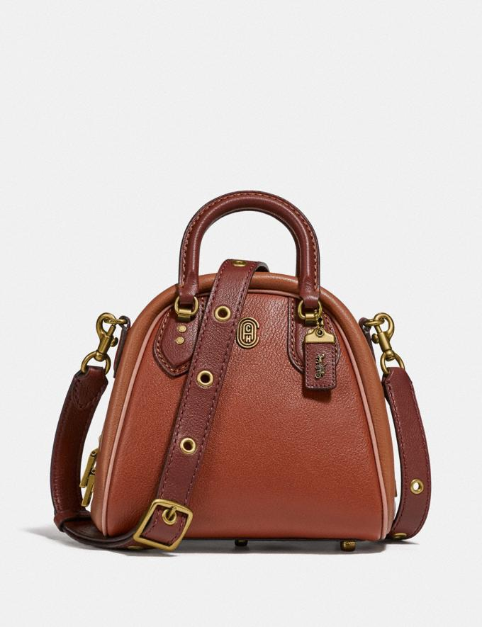 Coach Marleigh Satchel 20 in Colorblock 1941 Saddle Multi/Brass New Women's New Arrivals Collection