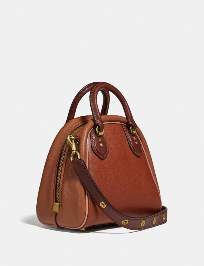 Coach Marleigh Satchel 20 in Colorblock 1941 Saddle Multi/Brass New Women's New Arrivals Collection Alternate View 1