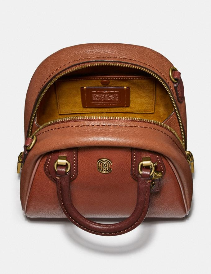 Coach Marleigh Satchel 20 in Colorblock 1941 Saddle Multi/Brass New Women's New Arrivals Collection Alternate View 2
