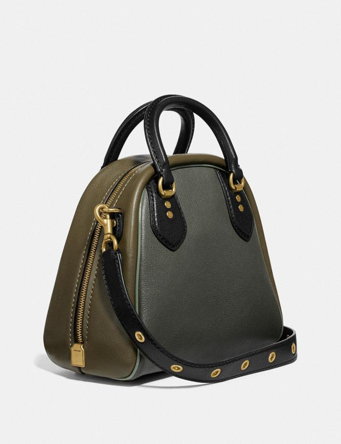 Coach Marleigh Satchel in Colorblock With Coach Patch Kelp Multi/Brass New Women's New Arrivals Collection Alternate View 1