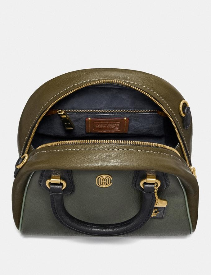 Coach Marleigh Satchel in Colorblock With Coach Patch Kelp Multi/Brass New Women's New Arrivals Collection Alternate View 2