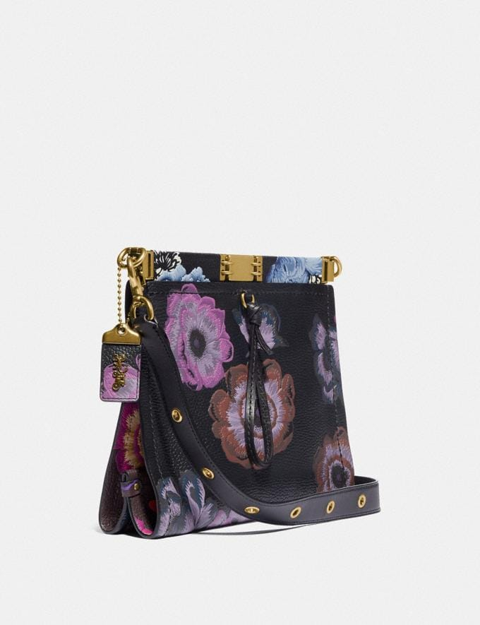 Coach Troupe Shoulder Bag With Kaffe Fassett Print Multicolor/Brass Women Collection Troupe Alternate View 1