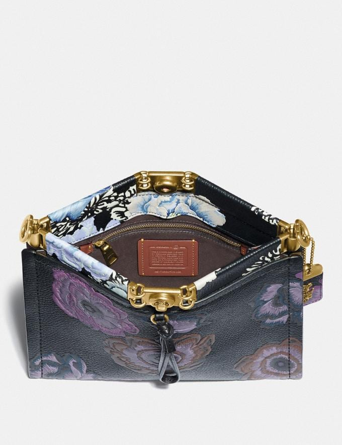 Coach Troupe Shoulder Bag With Kaffe Fassett Print Multicolor/Brass Women Collection Troupe Alternate View 2