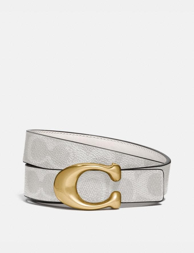 Coach Signature Buckle Reversible Belt, 25mm B4/Chalk
