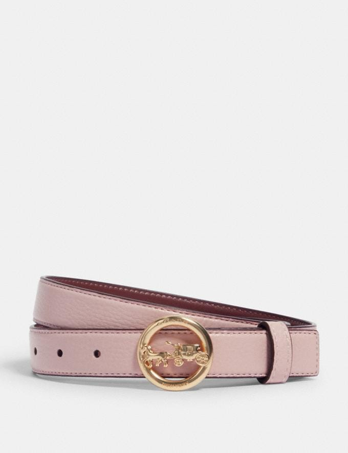 Coach Horse and Carriage Buckle Belt, 25mm Im/Blossom