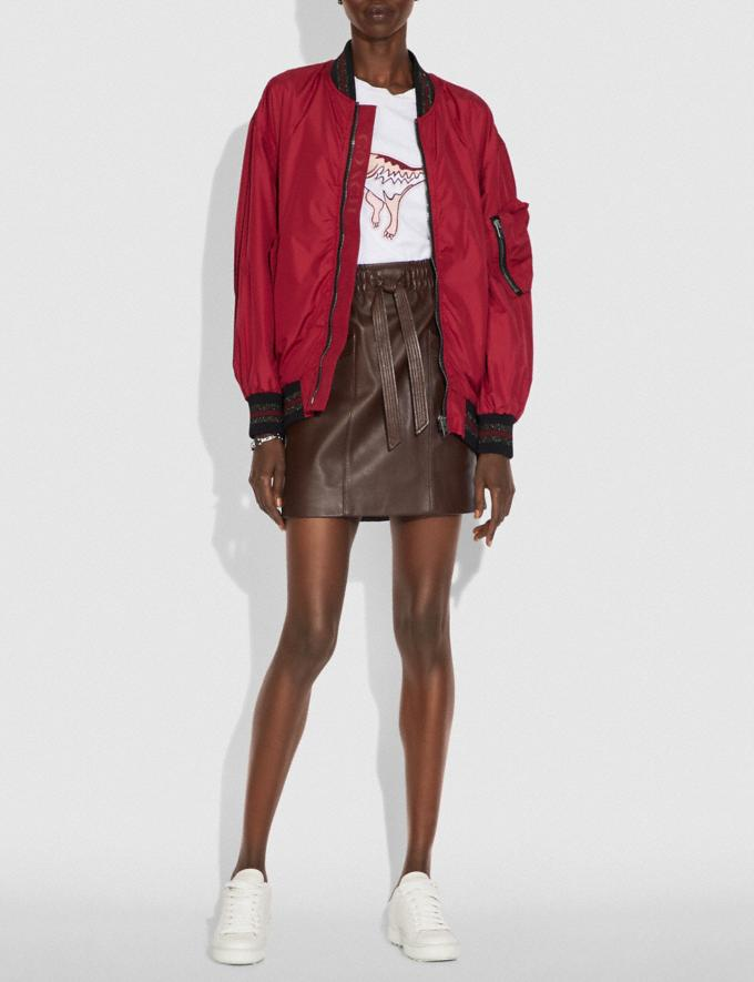 Coach Nylon Ma-1 Jacket Ruby SALE Women's Sale Ready-to-Wear Alternate View 1