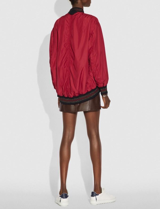 Coach Nylon Ma-1 Jacket Ruby SALE Women's Sale Ready-to-Wear Alternate View 2