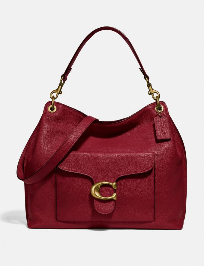 Coach Tabby Hobo Brass/Deep Red Women Collection Tabby